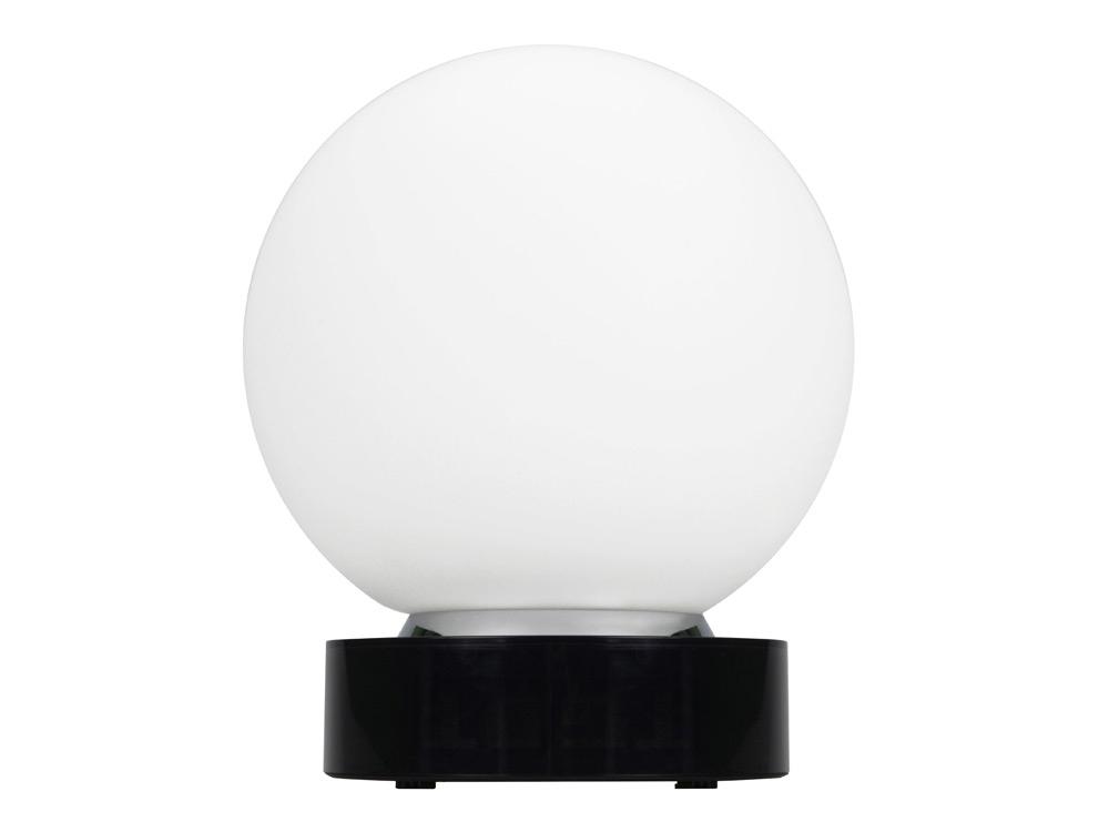 Лампа настольная с часами, датой и термометром. При включении на поверхности лампы появляется стилизованное изображение земного шара - 2