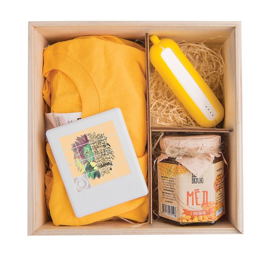 Упаковка подарочная из фанеры, , 20х8х20см, дерево - 1
