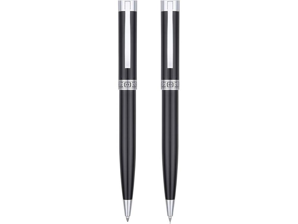 Набор: блекмэн Джей, ручка шариковая, автоматический карандаш, блекмэн- прорезиненный пластик/ручка и карандаш- металл - 2