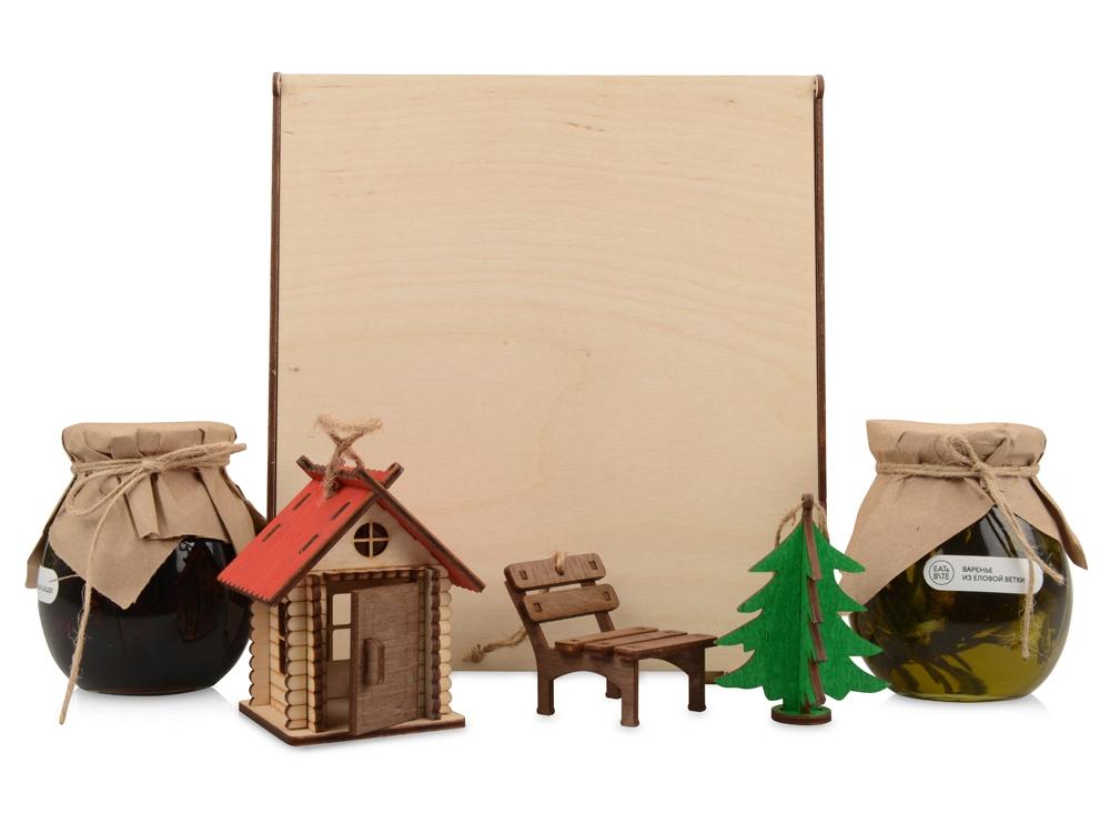 Подарочный набор «Decoration Deluxe» с двумя видами варенья, натуральный, березовая фанера толщиной 3 мм - 2