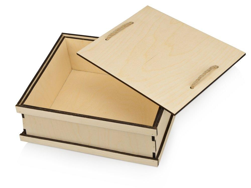 Подарочная деревянная коробка «Invio», бесцветный, 29,4 х 24,4 х 11,2 см, березовая фанера толщиной 6 мм - 1