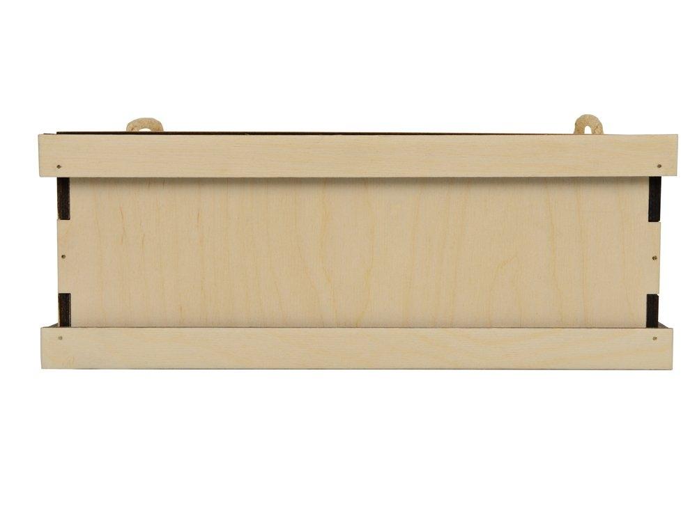 Подарочная деревянная коробка «Invio», бесцветный, 29,4 х 24,4 х 11,2 см, березовая фанера толщиной 6 мм - 3