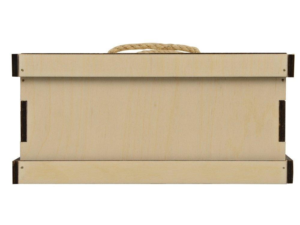 Подарочная деревянная коробка «Invio», бесцветный, 29,4 х 24,4 х 11,2 см, березовая фанера толщиной 6 мм - 4