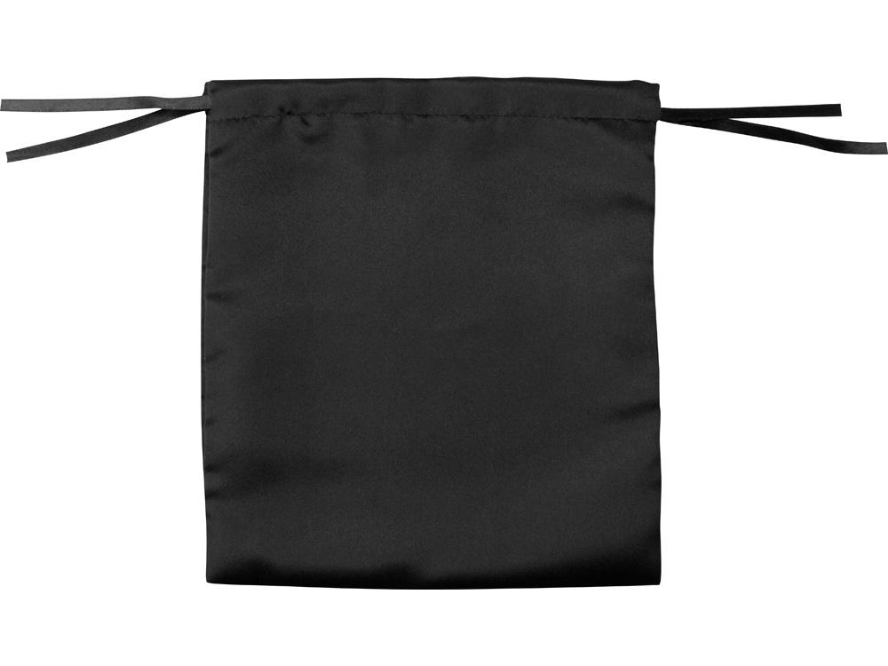 Мешочек подарочный сатиновый L, черный, 20 х 22 см - 1