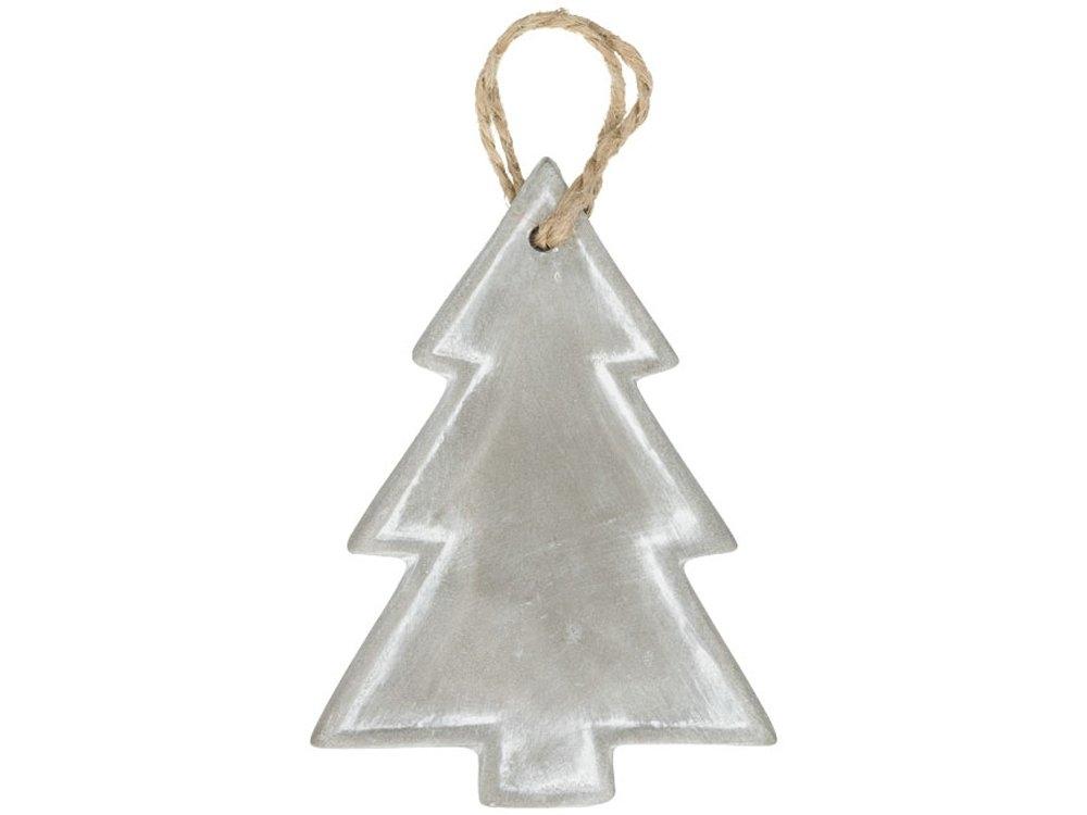 Рождественское украшение «Елка», серый, керамика - 1