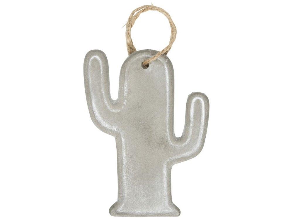 Сезонное украшение «Кактус», серый, керамика - 1