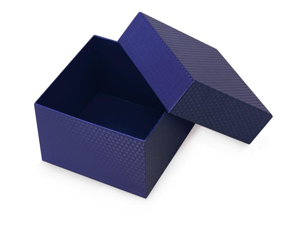 Коробка подарочная Gem S, синий, 15 х 15 х 10 см, переплетный ламинированный картон - 1