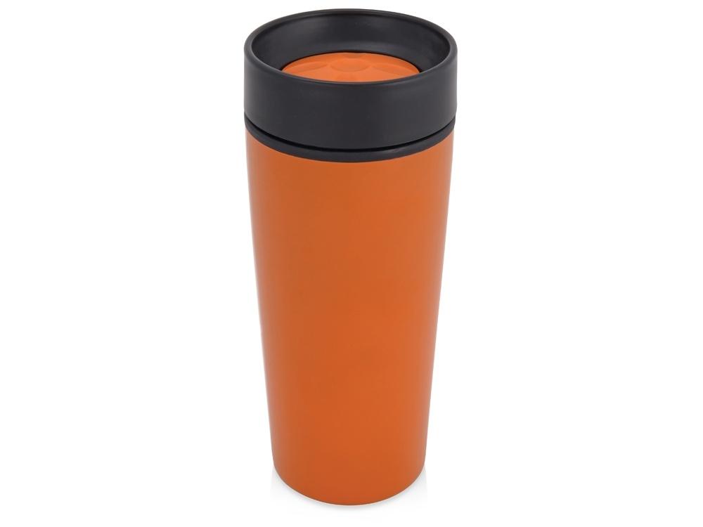Подарочный набор Lunch с термокружкой, ланч-боксом, оранжевый, контейнер для ланча - пластик, термокружка - нержавеющая сталь/пластик, рюкзак - полиэстер - 1