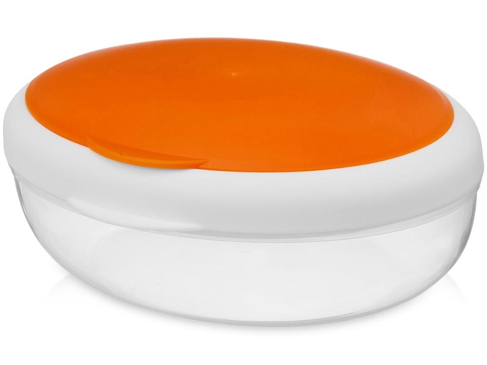 Подарочный набор Lunch с термокружкой, ланч-боксом, оранжевый, контейнер для ланча - пластик, термокружка - нержавеющая сталь/пластик, рюкзак - полиэстер - 2