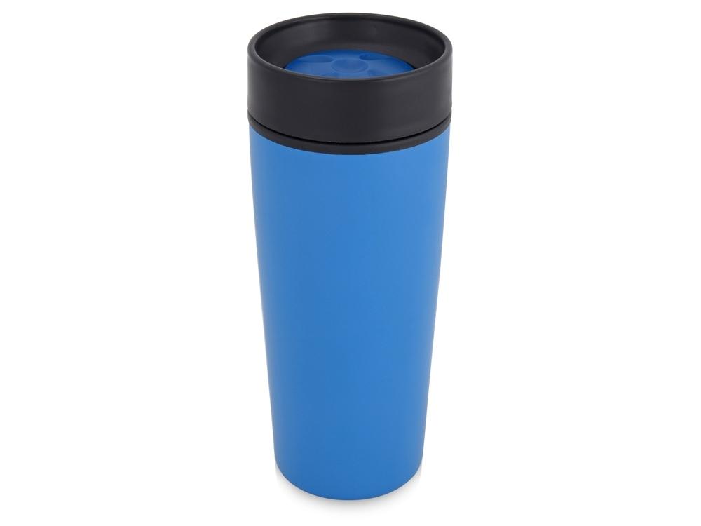 Подарочный набор Lunch с термокружкой, ланч-боксом, синий, контейнер для ланча - пластик, термокружка - нержавеющая сталь/пластик, рюкзак - полиэстер - 1