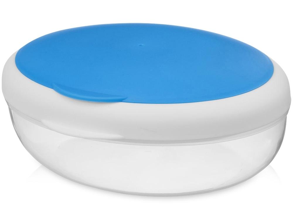 Подарочный набор Lunch с термокружкой, ланч-боксом, синий, контейнер для ланча - пластик, термокружка - нержавеющая сталь/пластик, рюкзак - полиэстер - 2