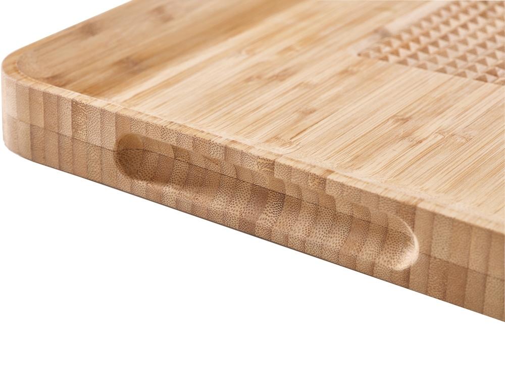 Доска разделочная Cut & Carve Bamboo, натуральный, бамбук, сталь, силикон - 5