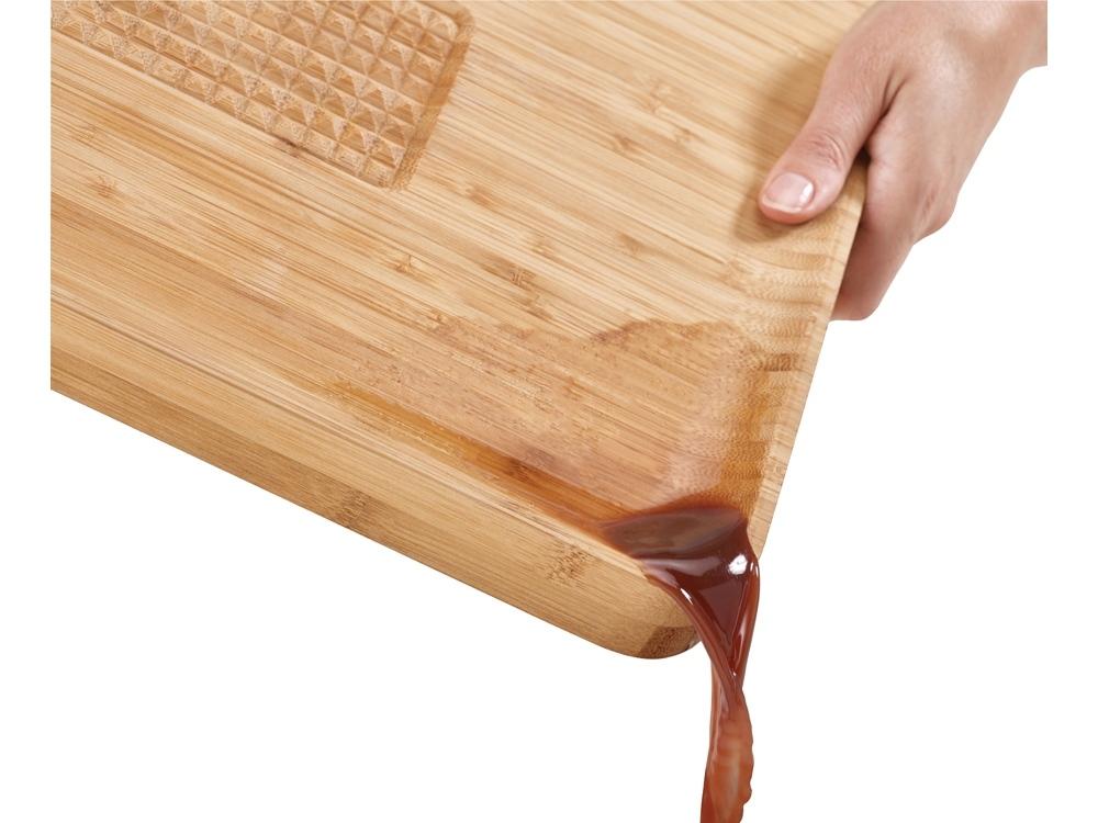 Доска разделочная Cut & Carve Bamboo, натуральный, бамбук, сталь, силикон - 2