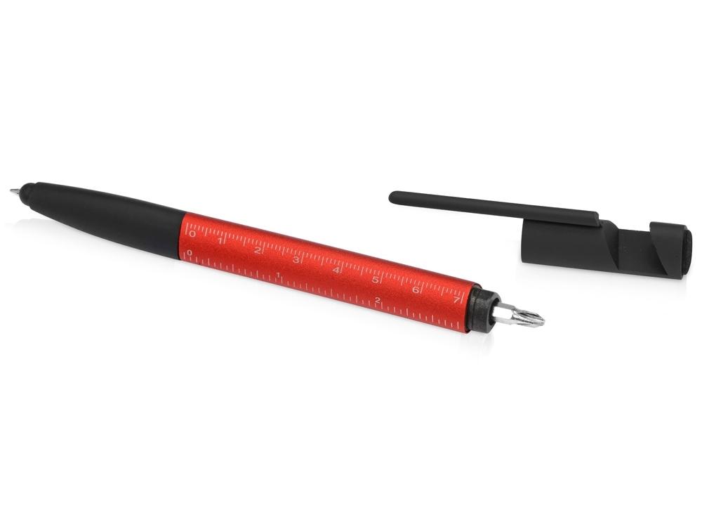 Ручка-стилус металлическая шариковая «Multy», красный, металл - 5