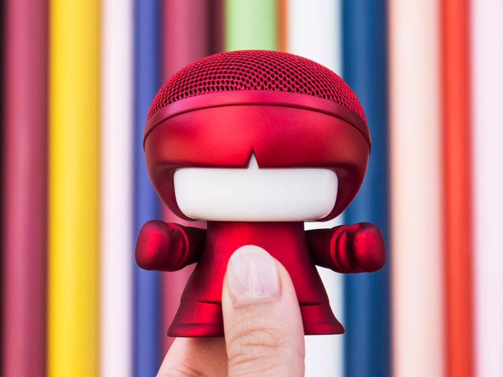 Портативная колонка Bluetooth «mini XboyMetallic», красный, АБС пластик - 2