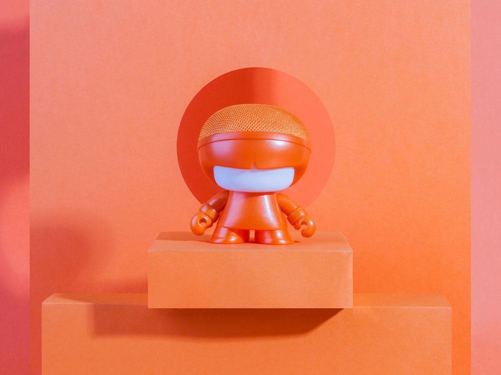 Портативная колонка Bluetooth «mini XboyMetallic», оранжевый, АБС пластик - 3