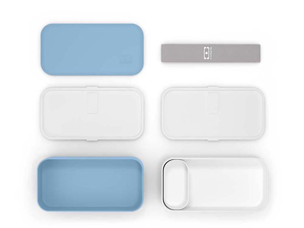 Ланч-бокс «MB Original», голубой (blue crystal)/белый, полибутилентерефталат - 2