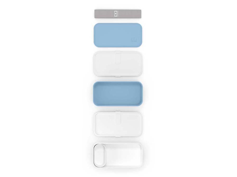 Ланч-бокс «MB Original», голубой (blue crystal)/белый, полибутилентерефталат - 3