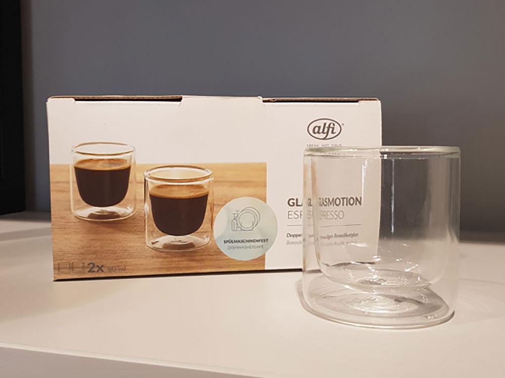 Набор стаканов из двойного стекла тм ALFI 80ml, в наборе 2 шт. - 2