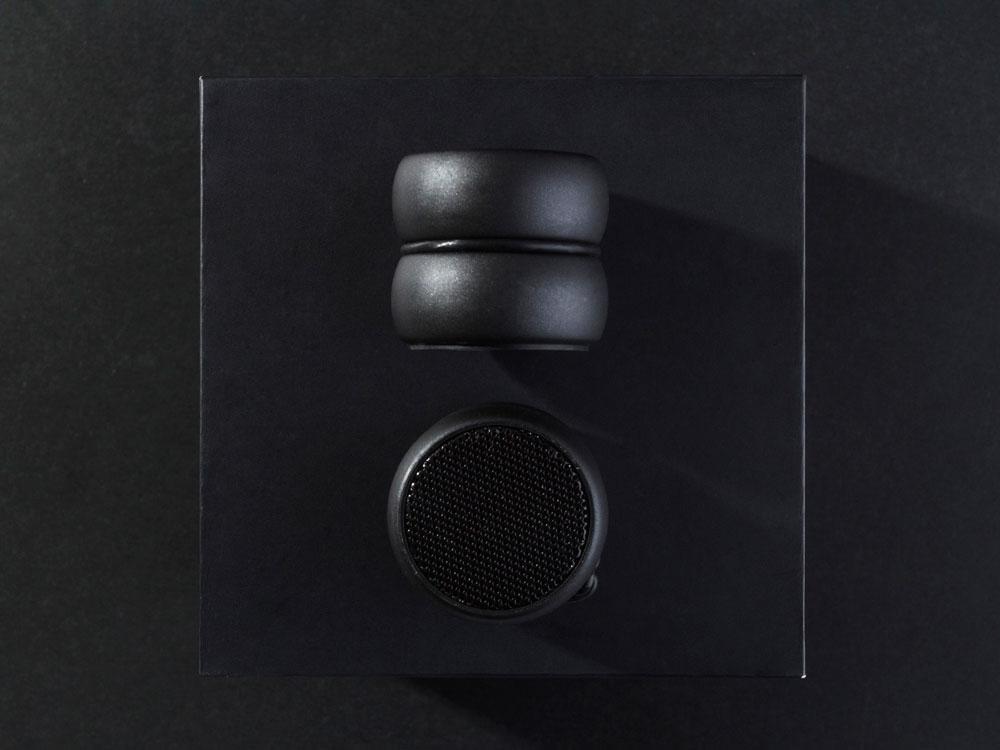 Портативные парные колонкиTWS «YoYo Stereo», черный, АБС пластик - 1