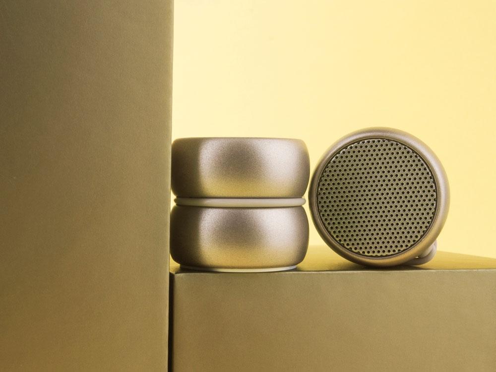 Портативные парные колонки TWS YoYo Stereo, золотистый - 1