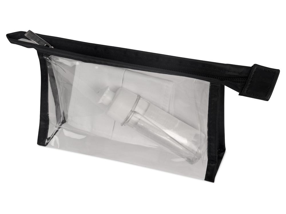 Набор средств индивидуальной защиты «Лайт», косметичка- прозрачный/черный, маска- белый, косметичка- ПВХ, маска- 100% хлопок - 1