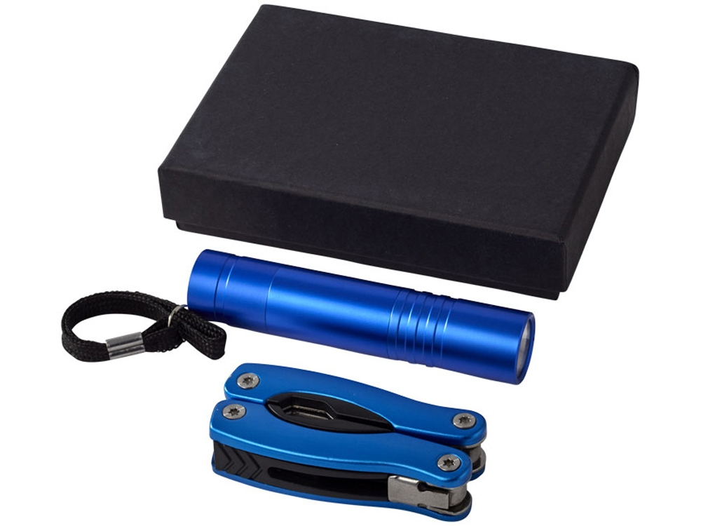 Подарочный набор «Scout», синий, алюминий - 2