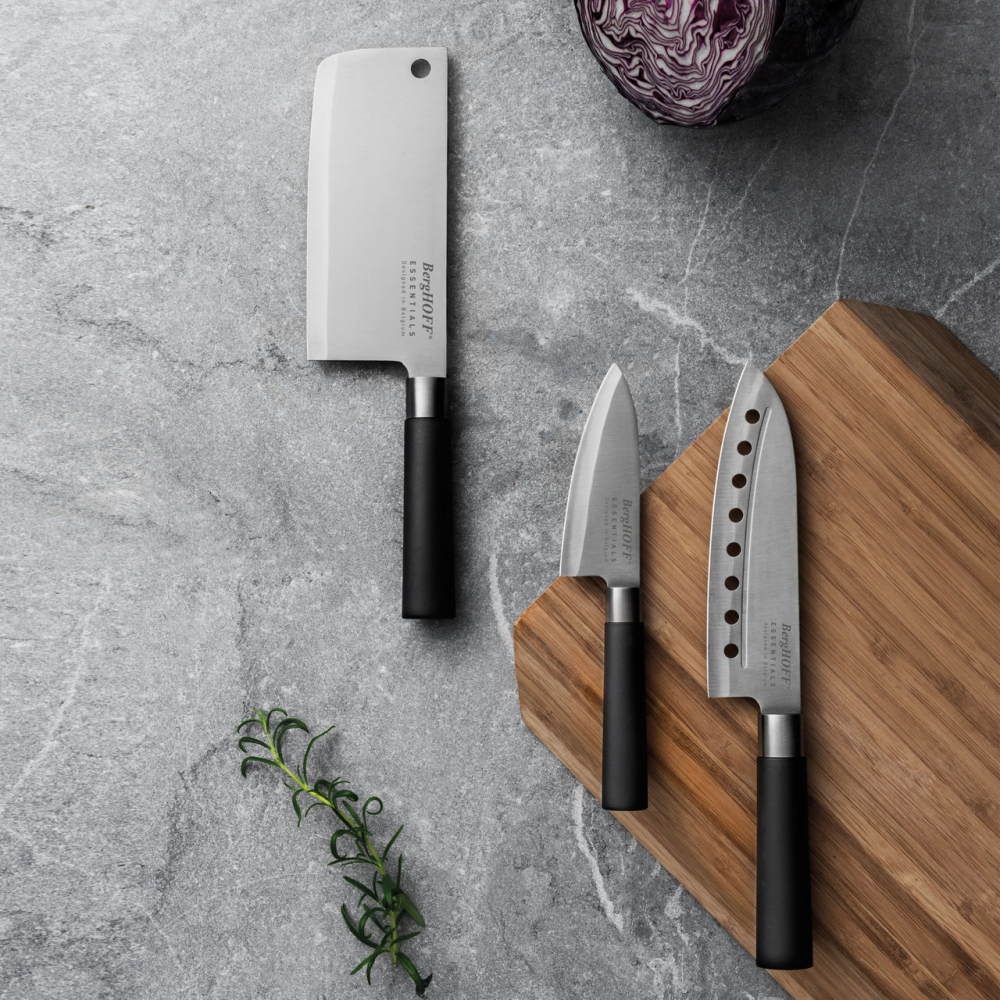 Нож сантоку с отверстиями в лезвии 18см Essentials - 1