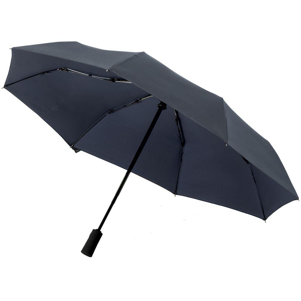 Складной зонт doubleDub, темно-синий - 1