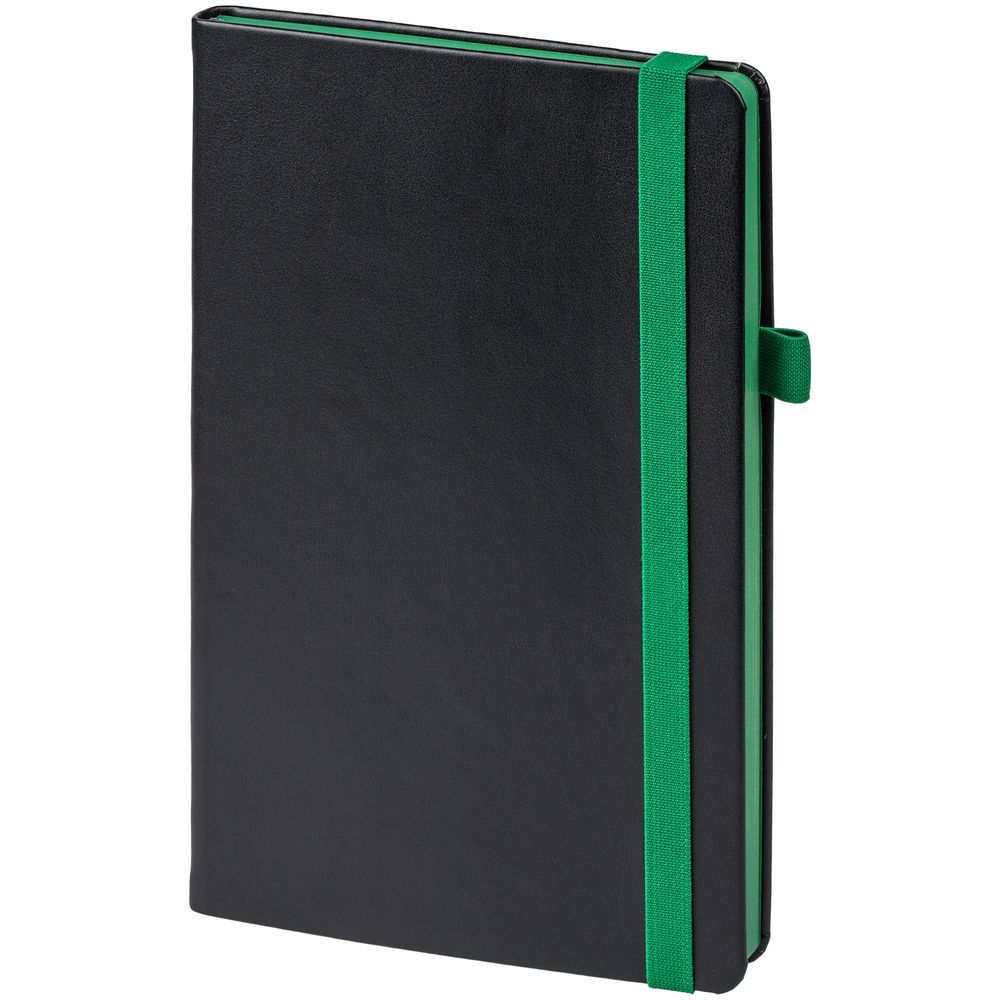 Ежедневник Ton недатированный, черный с зеленым - 1