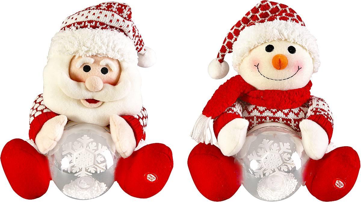 "Электромех. игрушка ""Дед Мороз, Снеговик со снежным шаром"" HM-007R - 1"