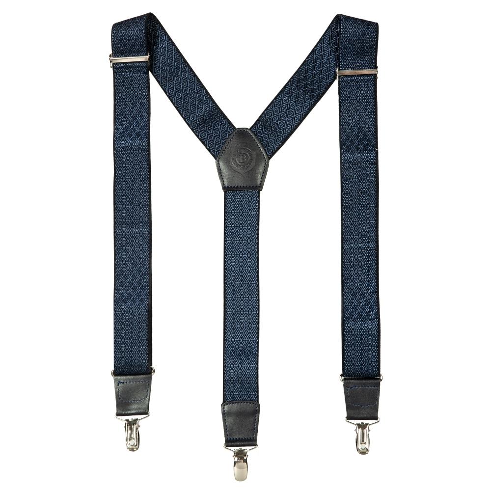 Подтяжки Miguel Bellido, текстиль-эластан с отделкой из натуральной кожи,  4003001 blue 12 - 1