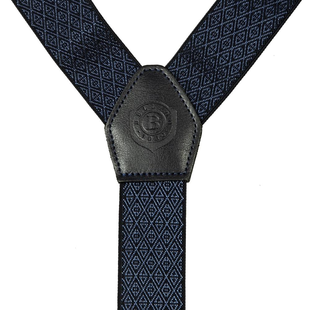 Подтяжки Miguel Bellido, текстиль-эластан с отделкой из натуральной кожи,  4003001 blue 12 - 2