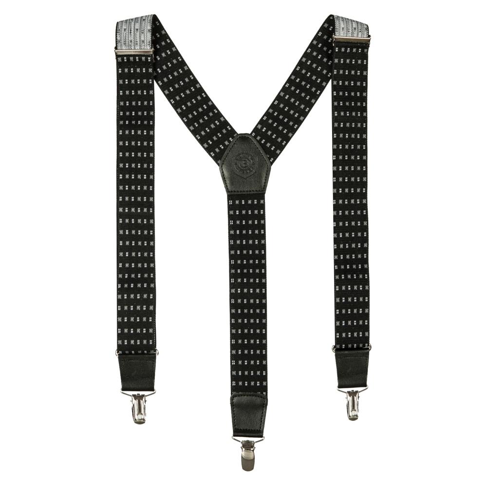 Подтяжки Miguel Bellido, текстиль-эластан с отделкой из натуральной кожи,  4003301 black 28 - 1