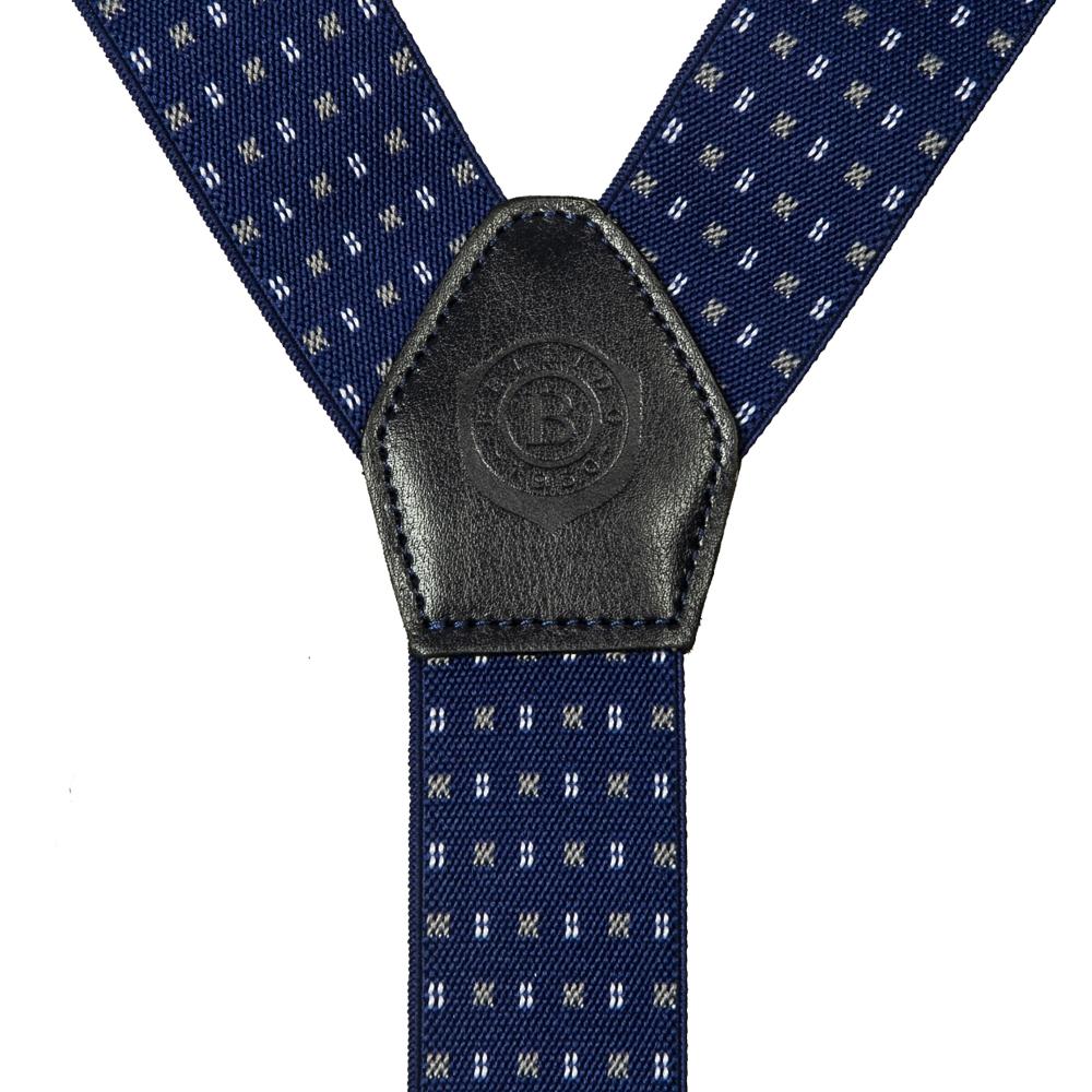 Подтяжки Miguel Bellido, текстиль-эластан с отделкой из натуральной кожи,  4003301 blue 12 - 1