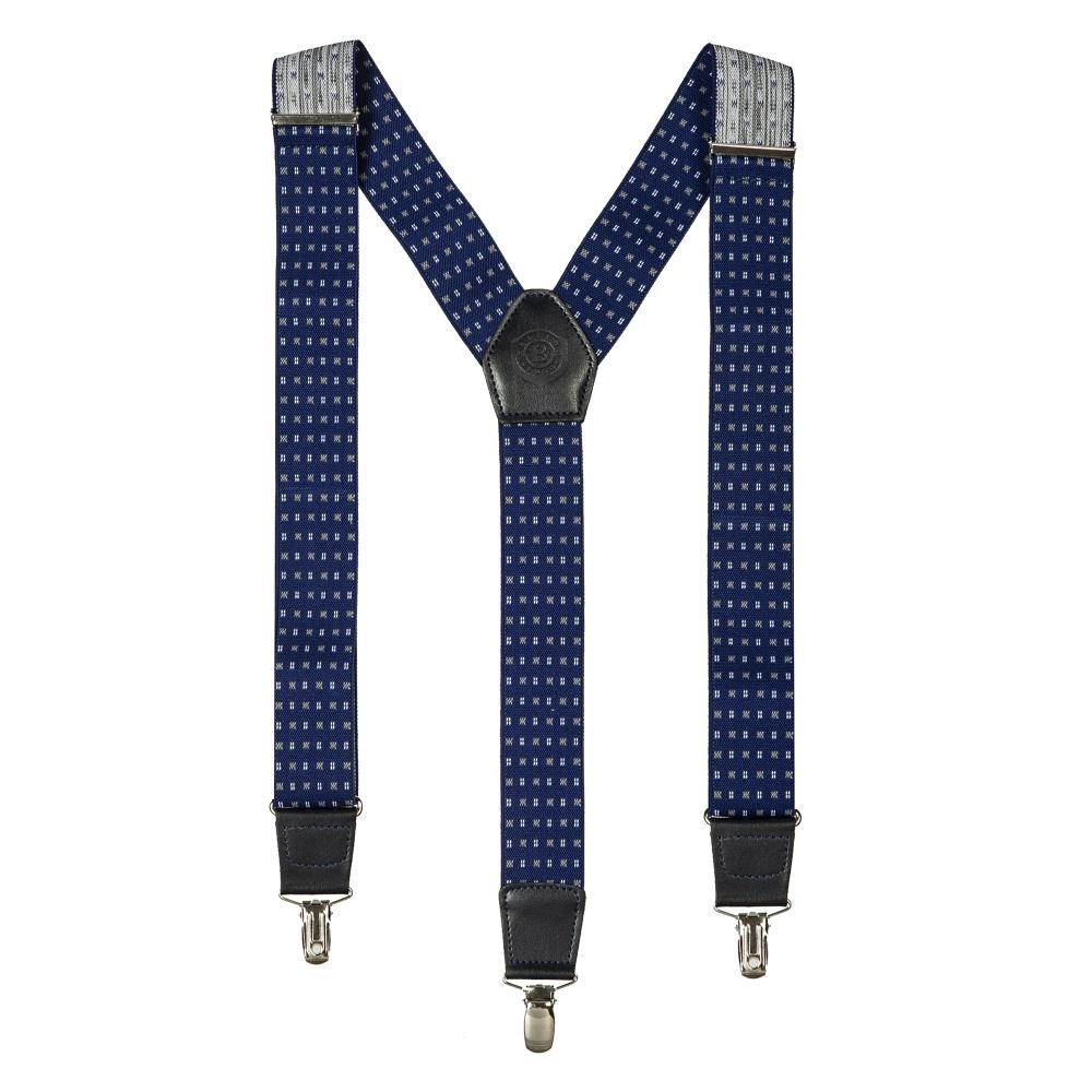 Подтяжки Miguel Bellido, текстиль-эластан с отделкой из натуральной кожи,  4003301 blue 12 - 2