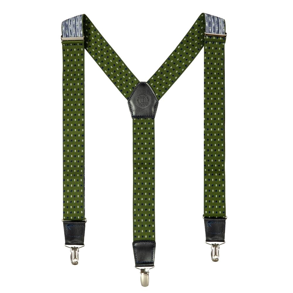 Подтяжки Miguel Bellido, текстиль-эластан с отделкой из натуральной кожи,  4003301 green 07 - 1