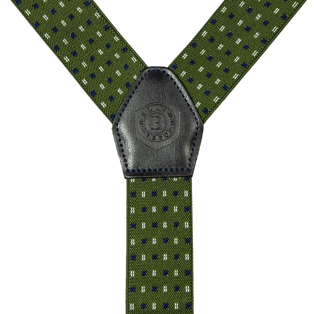 Подтяжки Miguel Bellido, текстиль-эластан с отделкой из натуральной кожи,  4003301 green 07 - 2