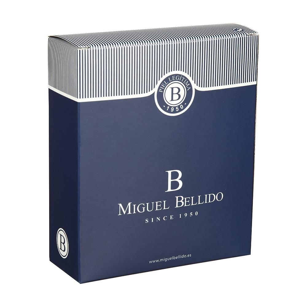 Ремень мужской брючный 110 см Miguel Bellido, натуральная кожа, коричневый 220/32 2353 brown 02 - 3