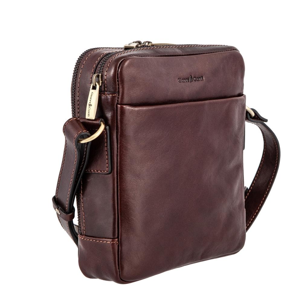 Сумка-планшет Gianni Conti, натуральная кожа, коричневый 9402312 brown - 2