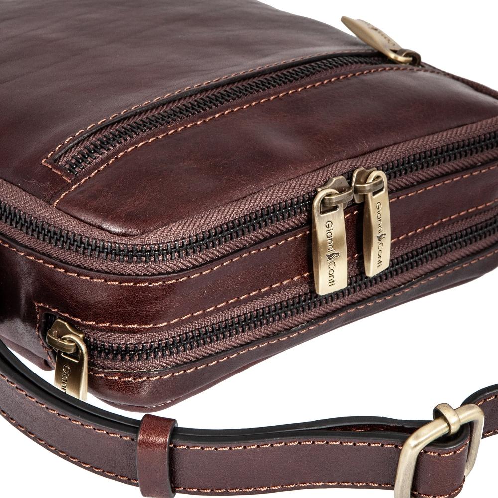 Сумка-планшет Gianni Conti, натуральная кожа, коричневый 9402312 brown - 3