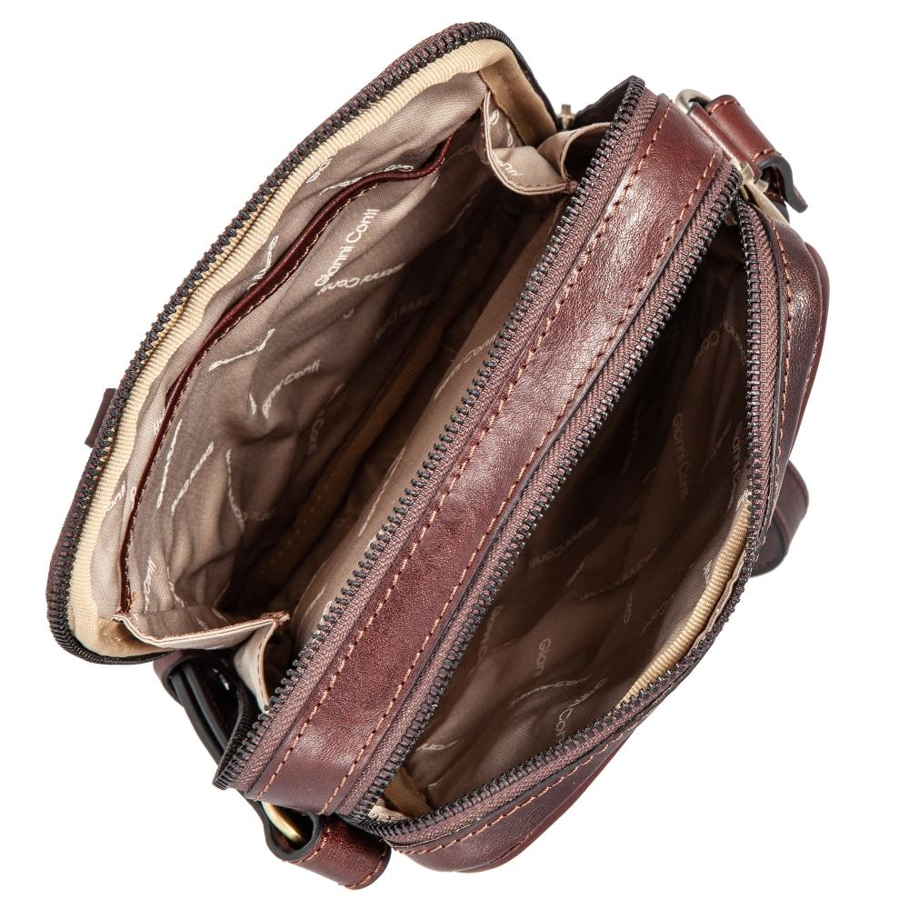 Сумка-планшет Gianni Conti, натуральная кожа, коричневый 9402312 brown - 4