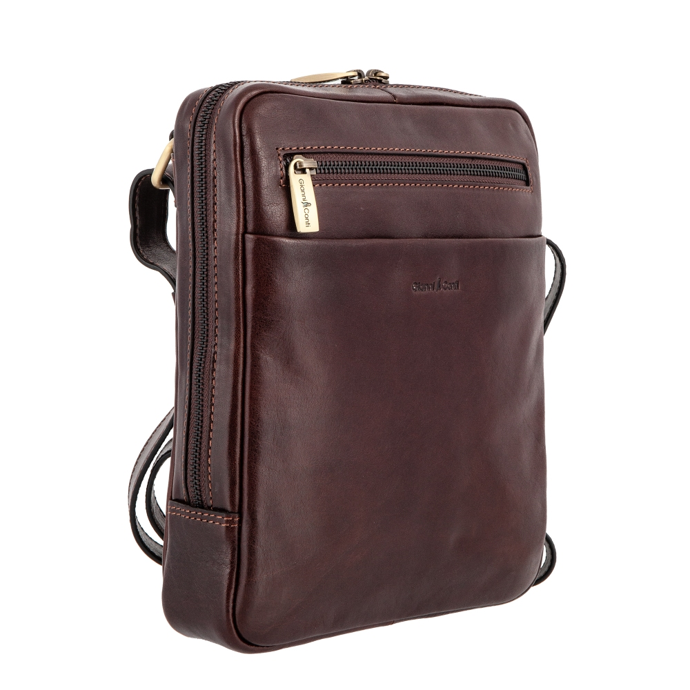 Сумка-планшет Gianni Conti, натуральная кожа, коричневый 9402349 brown - 2