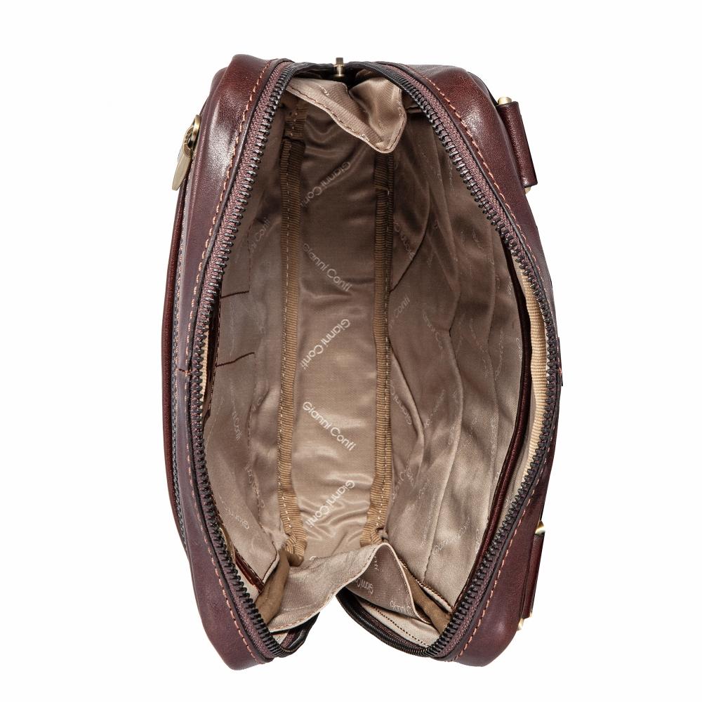 Сумка-планшет Gianni Conti, натуральная кожа, коричневый 9402349 brown - 3