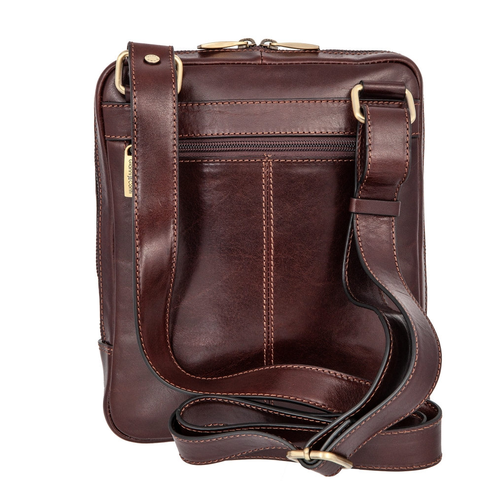 Сумка-планшет Gianni Conti, натуральная кожа, коричневый 9402349 brown - 4