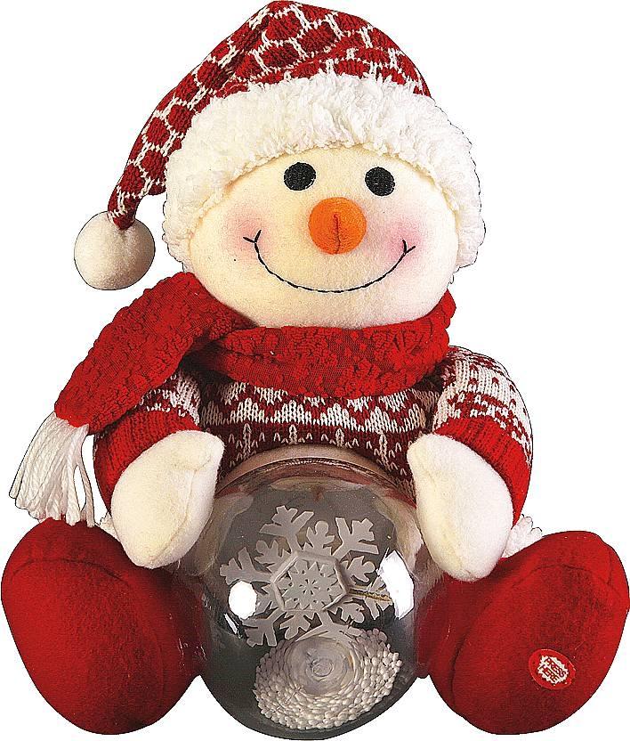 "Электромех. игрушка ""Дед Мороз, Снеговик со снежным шаром"" HM-007R - 2"