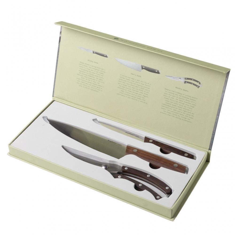 3пр Набор ножей с деревянной ручкой Ron - 6