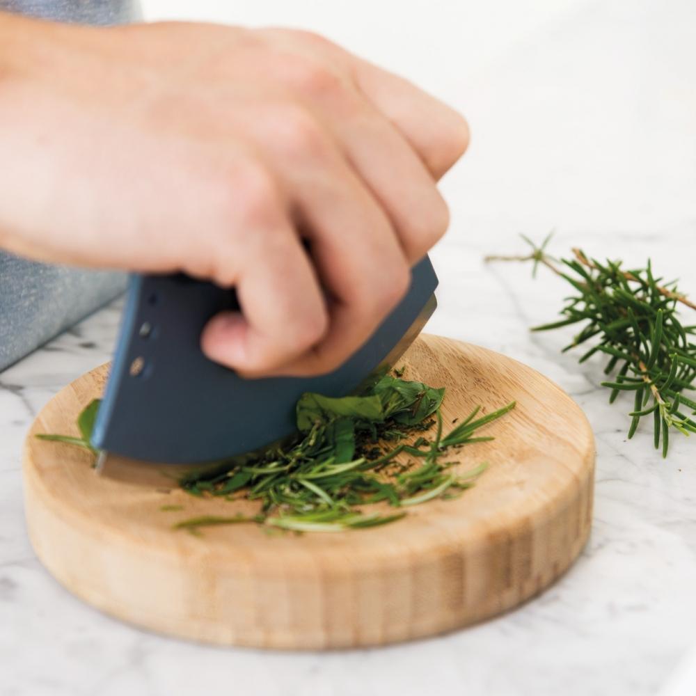 Нож для зелени 8см и досочка Leo - 2
