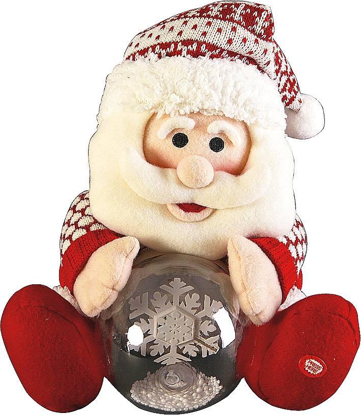 "Электромех. игрушка ""Дед Мороз, Снеговик со снежным шаром"" HM-007R - 3"