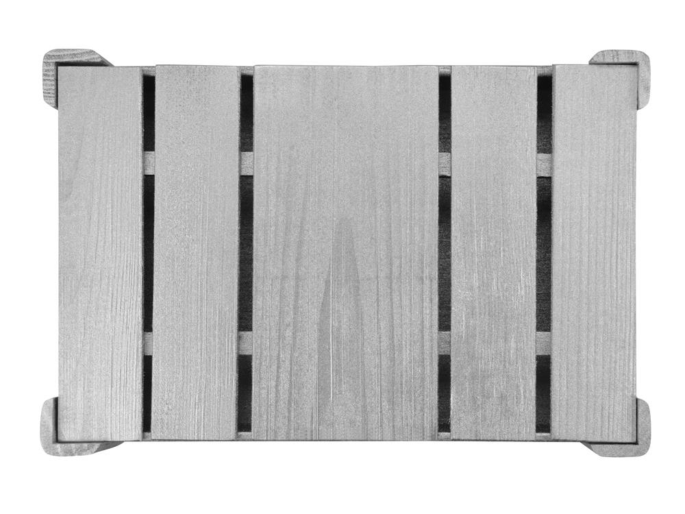 Подарочная деревянная коробка, серебристый, 25,5 х 16,5 х 4,8 см, дерево - 3